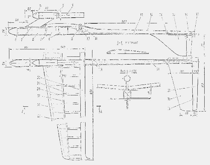 Модель радиоуправляемого ракетоплана