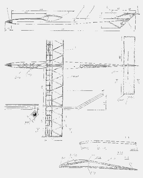 Модель самолета с резиномотором класса в1