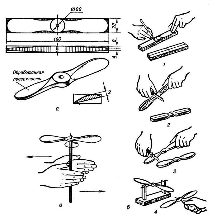 Как из дерева сделать пропеллер