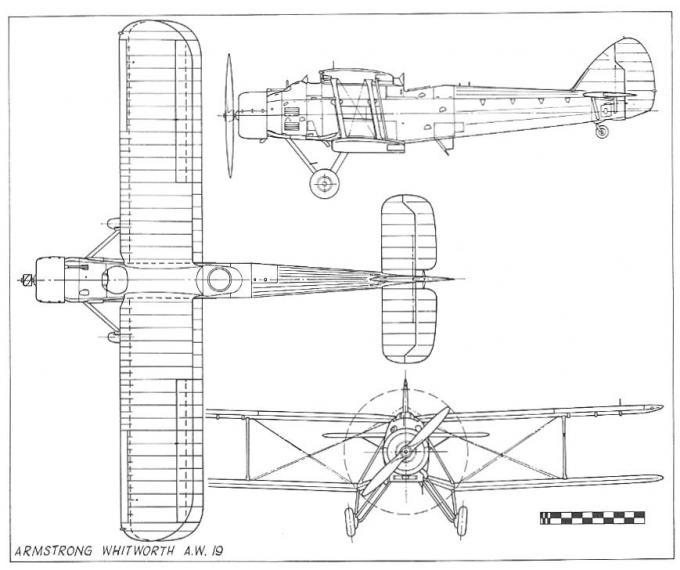 Несколько прототипов мирного времени. опытный многоцелевой самолет a.w.19. великобритания