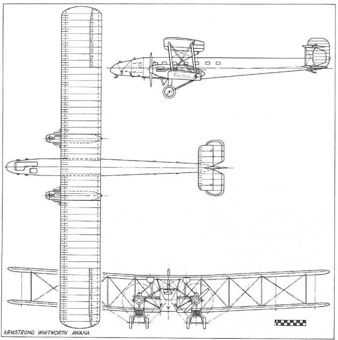 Несколько прототипов мирного времени. опытный транспортный самолет armstrong-whitworth awana. великобритания