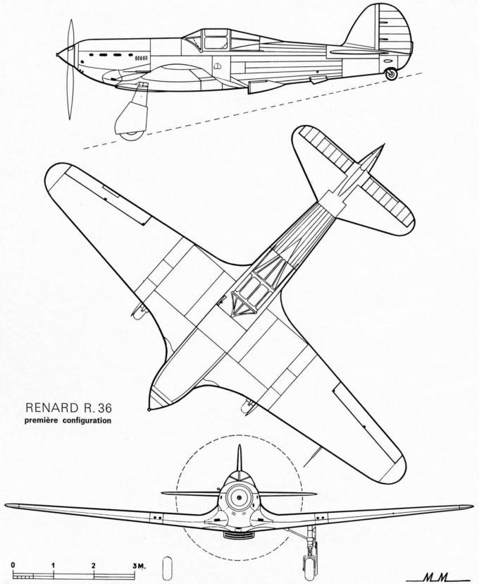 Неудачливый бельгийский «спитфайр». опытный истребитель renard r.36 и его производные