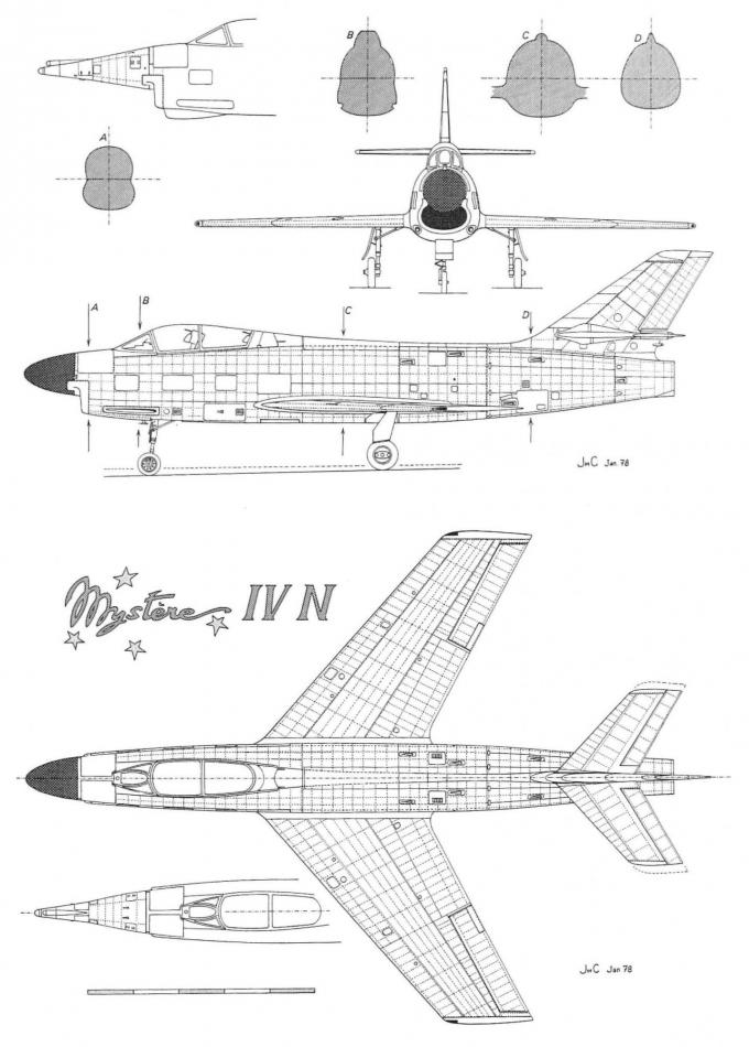 Ночные загадки марселя дассо. часть 4 опытный истребитель-перехватчик dassault mystere iv n
