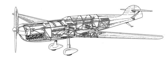 Одна неудачная птица. спортивный самолет messerschmitt m-29. германия