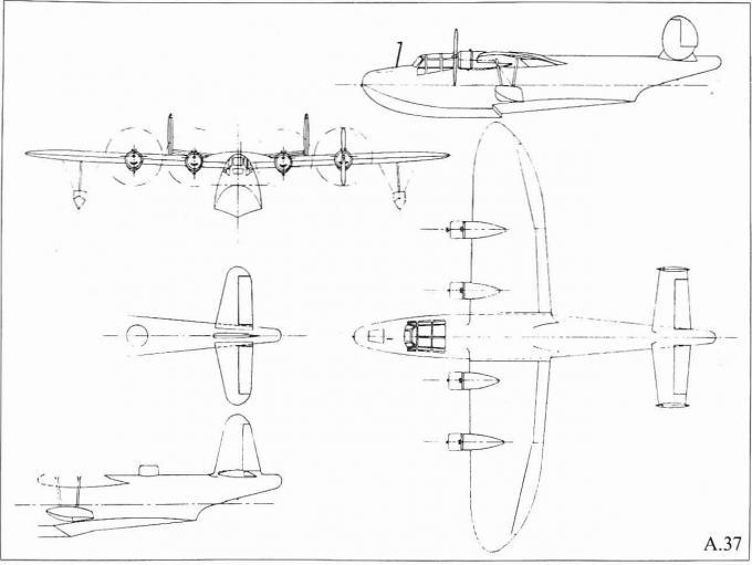 Опытная летающая лодка saunders-roe a.37. великобритания