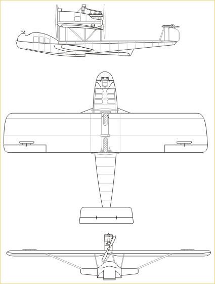 Опытная пассажирская летающая лодка dornier gs i. германия