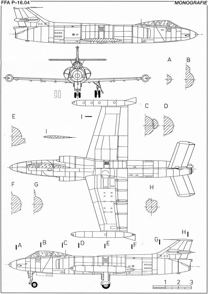 Опытные истребители-бомбардировщики ffa p-16 dusenstorch. швейцария часть 4