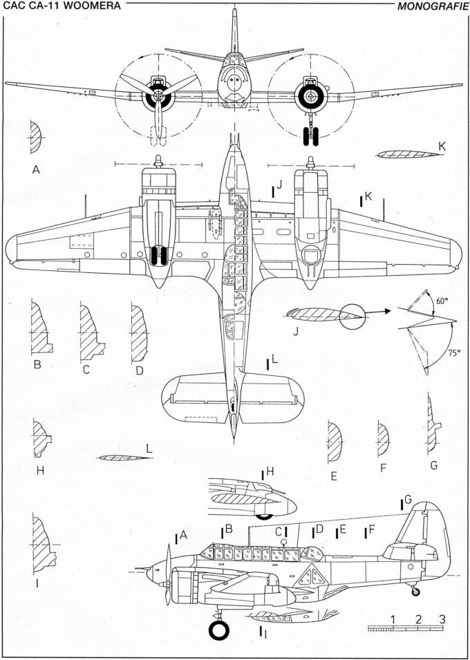 Опытные пикирующие бомбардировщики-торпедоносцы commenwealth (cac) ca-4/ca-11 woomera. австралия часть 2