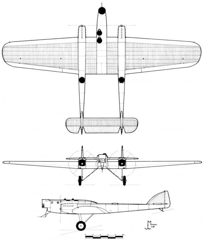 Опытный бомбардировщик и разведчик spca iii type 30. франция