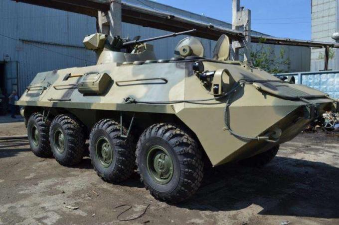 Опытный бронетранспортер бтр-87. россия