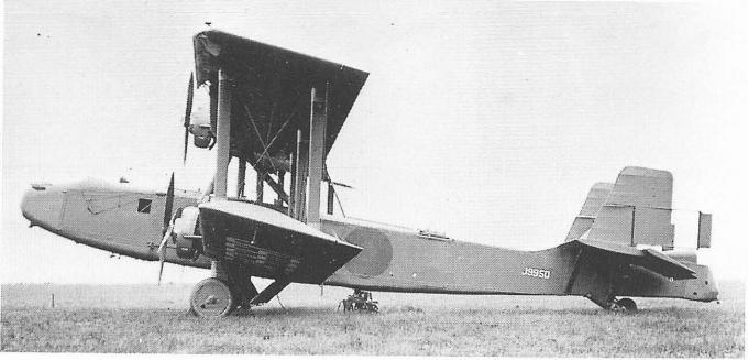 Опытный дальний ночной бомбардировщик boulton-paul p.32. великобритания