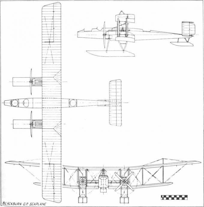 Опытный дальний противолодочный патрульный бомбардировщик-гидросамолет blackburn g.p.. великобритания