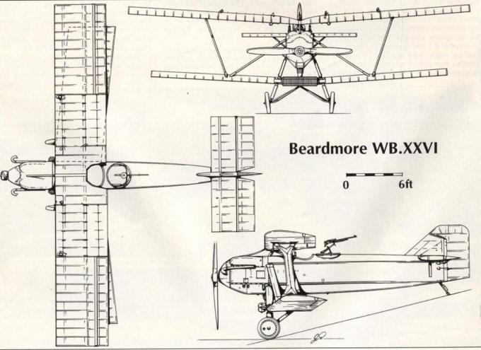 Опытный двухместный истребитель beardmore wb.xxvi. великобритания