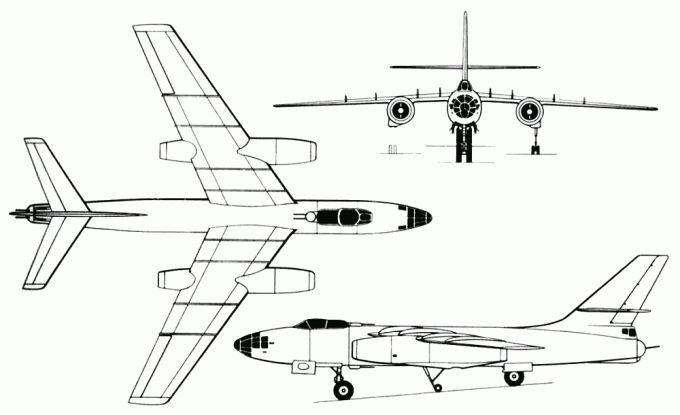 Опытный фронтовой бомбардировщик ил-30. ссср