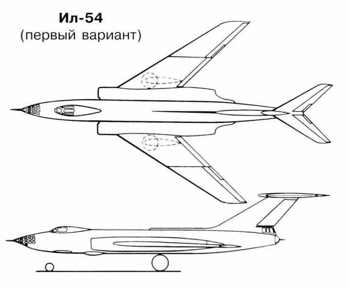 Опытный фронтовой бомбардировщик ил-54. ссср