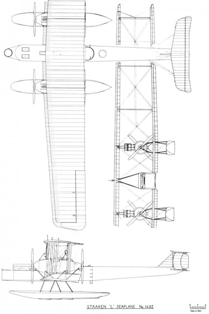 Опытный гидросамолет-бомбардировщик/дальний разведчик staaken l. германия