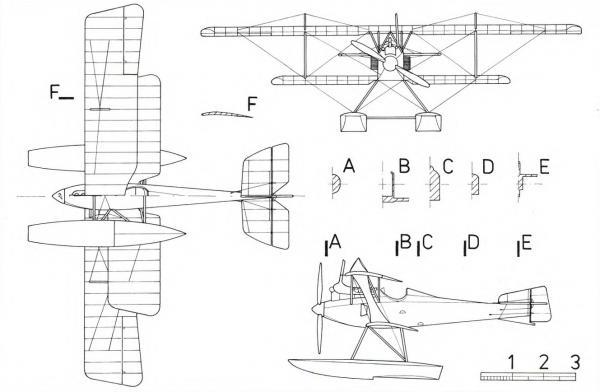 Опытный гидросамолет-истребитель sablatnig sf.4. германия