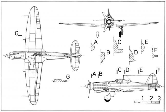 Опытный истребитель caproni-vizzola f.6z. италия