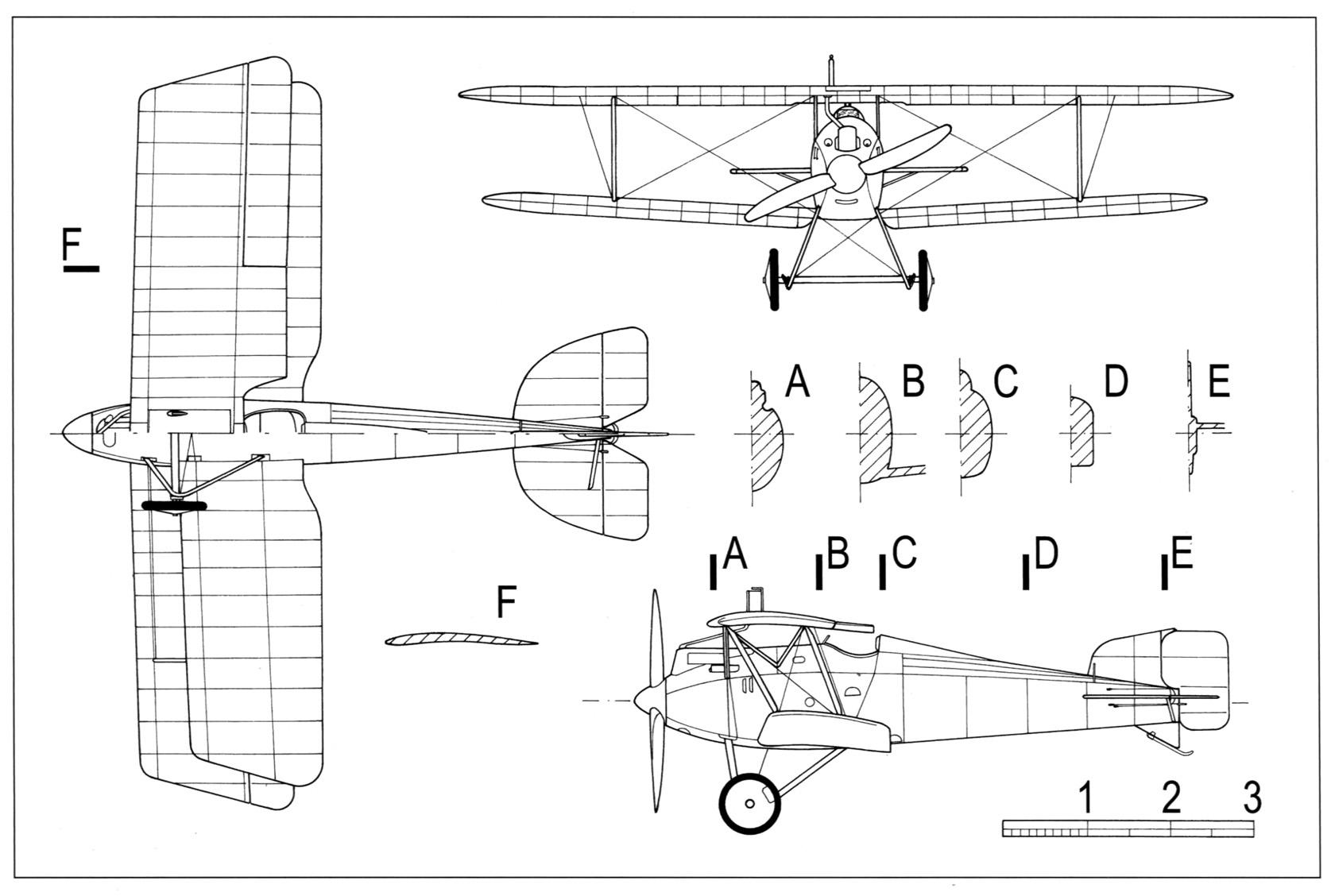 Опытный истребитель friedrichshafen ff.46 (d.i). германия