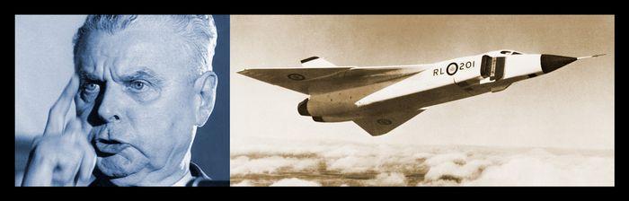 Опытный истребитель-перехватчик avro canada cf-105 arrow. канада