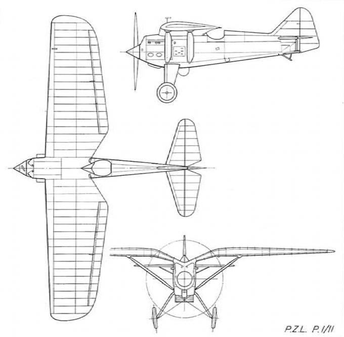 Опытный истребитель-перехватчик p.z.l. p.1. польша