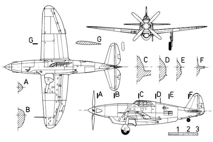 Опытный истребитель republic (chrysler) xp-47h. сша