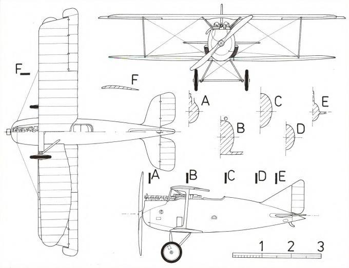 Опытный истребитель rumpler 8d1 (d.i). германия