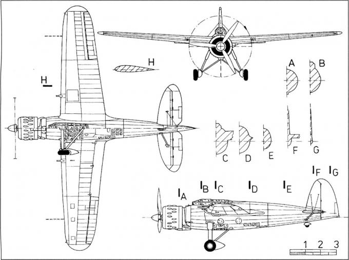 Опытный легкий бомбардировщик/разведчик breda ba.75. италия