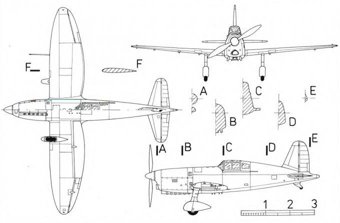 Опытный легкий истребитель anf-mureaux 190 c1. франция