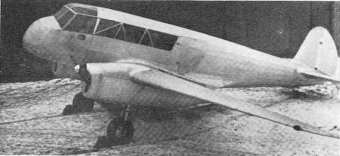 Опытный легкий пассажирский самолет rwd 11. польша