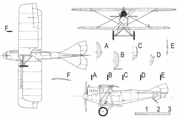 Опытный многоцелевой самолет wkf.80.04. австро-венгрия
