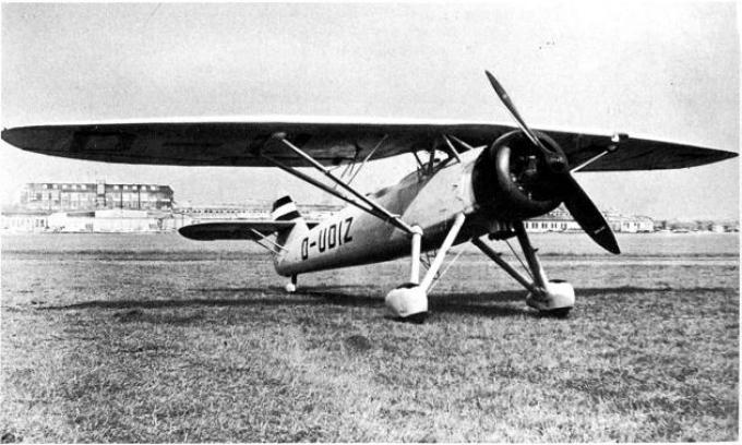 Опытный многоцелевой самолёт henschel hs 122. германия