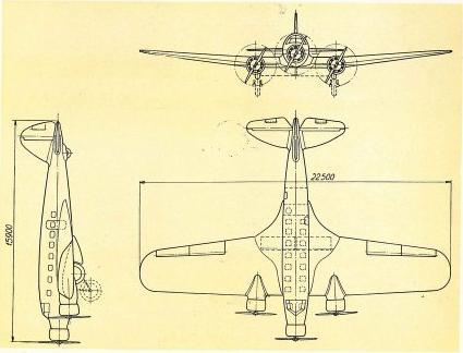 Опытный пассажирский самолет avia av 57. чехословакия