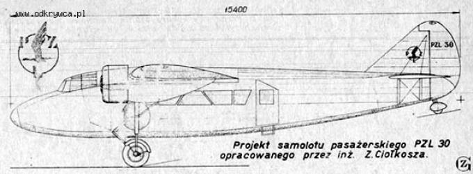 Опытный пассажирский самолет p.z.l.44 wicher. польша