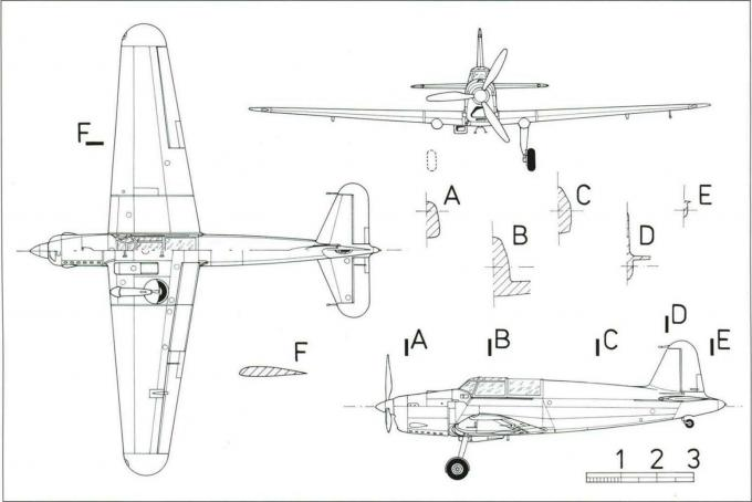 Опытный пикирующий бомбардировщик caproni ca.355 tuffo. италия
