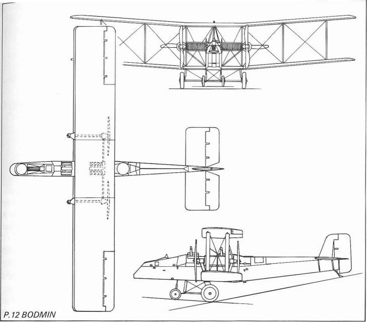 Опытный почтовый и военный самолет boulton-paul p.12 bodmin. великобритания