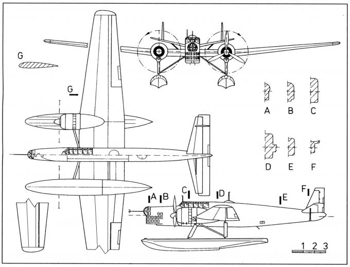 Опытный поплавковый бомбардировщик-торпедоносец sncac nc.410. франция