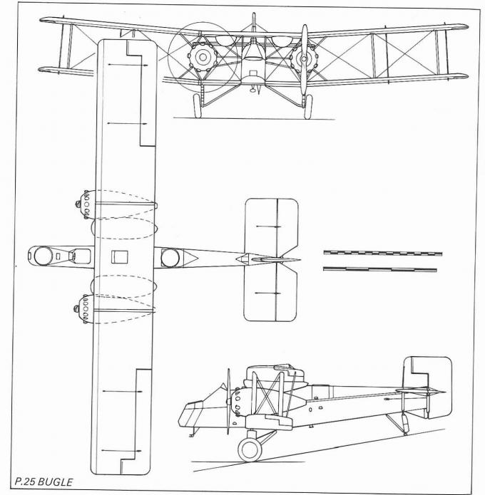 Опытный средний бомбардировщик boulton-paul p.25 bugle. великобритания