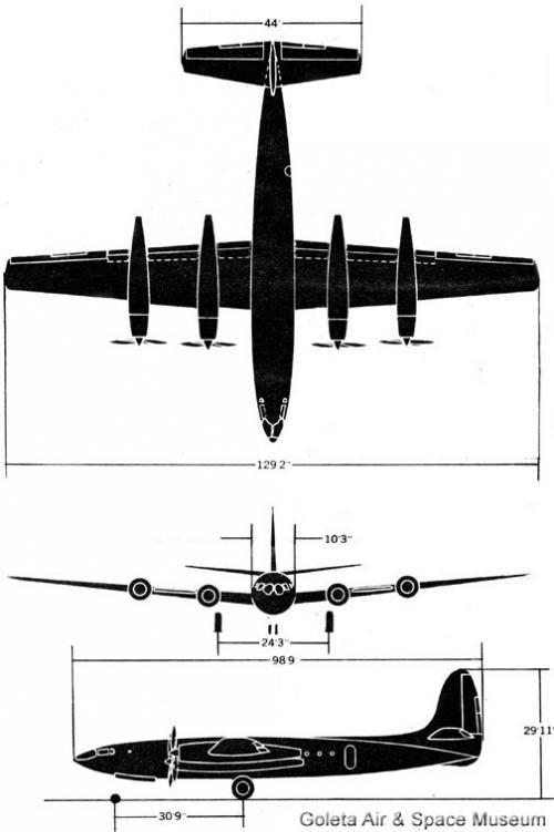 Опытный стратегический самолет-разведчик republic xf-12 rainbow. сша