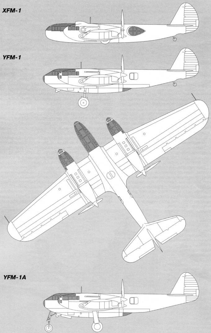 Опытный тяжелый истребитель bell airacuda. сша