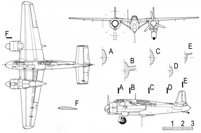 Опытный тяжелый истребитель-штурмовик hanriot (sncac) nc.600. франция