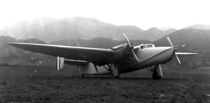 Опытный транспортный трансатлантический самолет piaggio p.23m. италия