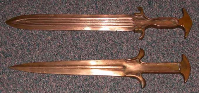Оружие и доспехи воинов троянской войны. часть 10 реплики мечей