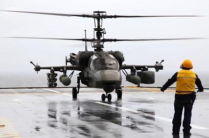 Палубный многоцелевой ударный вертолет ка-52к «катран».