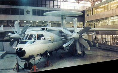 Палубный самолет дрло як-44э.
