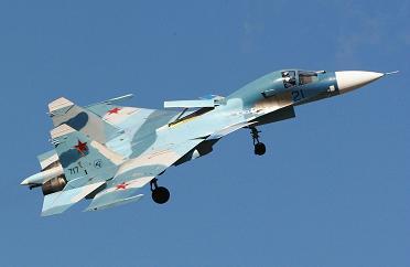 Палубный учебно-боевой истребитель су-33куб.