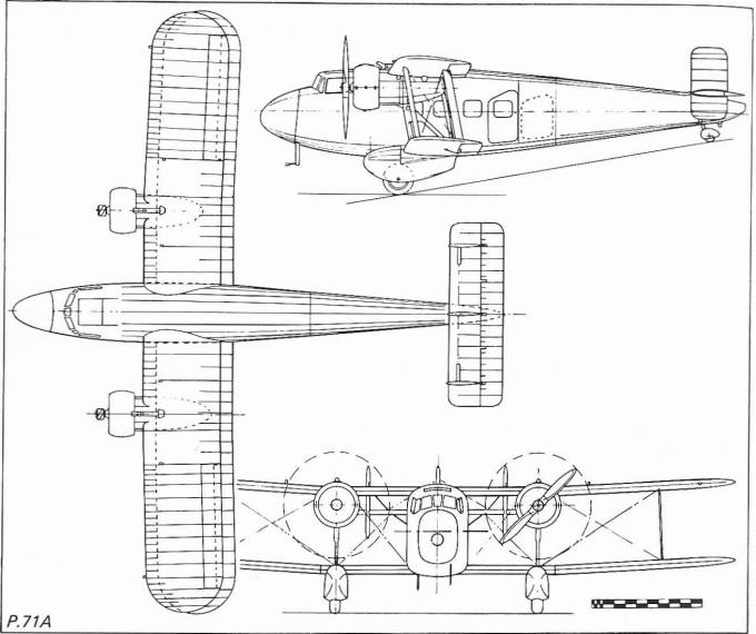 Пассажирский самолет boulton-paul p.71a. великобритания