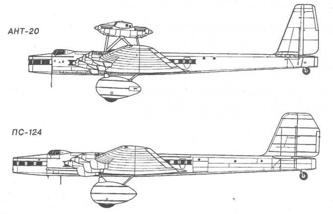 Пассажирский самолет пс-124. ссср