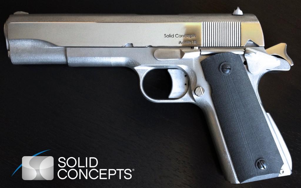 Первый металлический пистолет, напечатанный на 3d-принтере