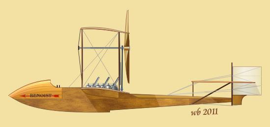 Первый в мире самолёт, работавший на регулярной воздушной линии. летающая лодка benoist xiv. сша